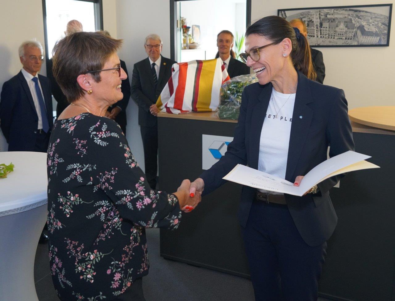 MRin Leonhardt, StMin Prof. Kiechle